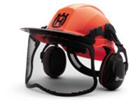 Шлем флуоресцентный Husqvarna с маской и наушниками Pro Helmet